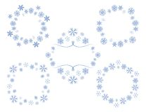 Decorative vector frames with snowflakes - set. Decorative vector frames with snowflakes -  set Royalty Free Stock Photography