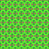 Decorative vector green background - abstract floral pattern Stock Images