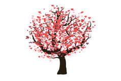 A decorative vector love tree Stock Images