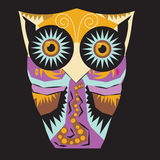 Decorative Vector Owl Stock Images