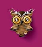 Decorative Vector Owl. Paper cut style stock illustration