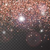 Decorative vector poster with bright glitter stars royalty free illustration