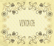 Decorative vector retro background. Vintage flower Stock Image