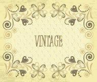 Decorative vector retro background. Vintage flower Stock Image