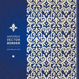 Decorative vector seamless border in Victorian style. Royalty Free Stock Photography