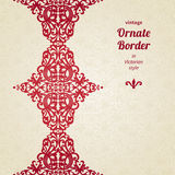 Decorative vector seamless border in Victorian style. Royalty Free Stock Images
