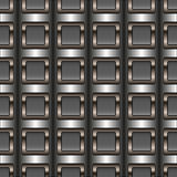 Decorative vector silver background - square pattern Royalty Free Stock Images