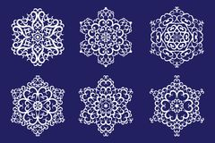 Decorative vector Snowflakes set Royalty Free Stock Photo