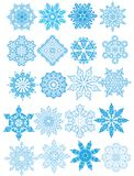 Decorative vector Snowflakes set Stock Photography