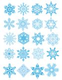 Decorative vector Snowflakes set Royalty Free Stock Photography