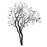 Decorative vector tree Stock Photos