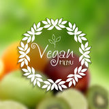 Decorative vegan menu design Stock Photos