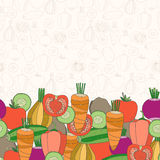 Decorative vegetables background with place for text Stock Photo