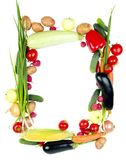 Decorative Vegetables Frame Royalty Free Stock Photo