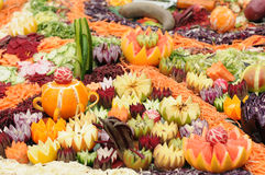 Decorative vegetables and fruit Royalty Free Stock Images