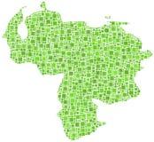 Decorative Venezuela Map Stock Images