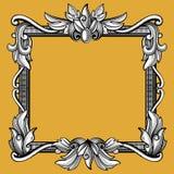 Decorative victorian, vintage baroque art engraved vector frame stock illustration