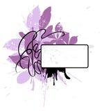 Decorative vignette 5. A grungy text vignette with floral elements Royalty Free Stock Image
