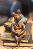 Decorative Vintage African Sculptures of Tribal Women stock photo