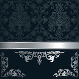 Decorative vintage background. Vintage background with decorative border and patterns. Vintage invitation card design Royalty Free Stock Photos