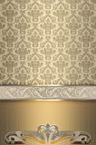 Decorative vintage background with elegant border. stock image