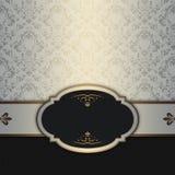 Decorative vintage background and elegant frame. Stock Photography