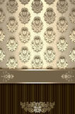 Decorative vintage background with floral patterns. Royalty Free Stock Photos