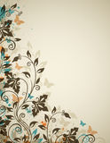 Decorative vintage background with flowers Royalty Free Stock Photo