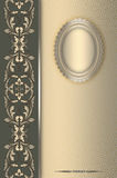 Decorative vintage background with frame. Royalty Free Stock Photos