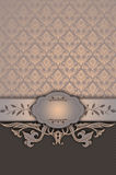 Decorative vintage background with frame. Stock Photography