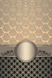 Decorative vintage background with frame. Royalty Free Stock Photo