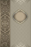Decorative vintage background with frame. Royalty Free Stock Photography