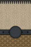 Decorative vintage background with frame. royalty free stock images
