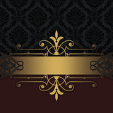 Decorative vintage background with gold border. Stock Images