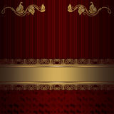 Decorative vintage background with gold lace border. Stock Photography