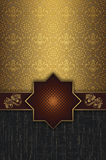 Decorative vintage background with gold patterns. Royalty Free Stock Images