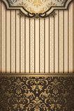 Decorative vintage background with gold patterns. Stock Photography