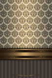 Decorative vintage background with old-fashioned ornament. Stock Photos