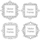 Decorative vintage black and white frames and borders set. #1 vector Royalty Free Stock Image