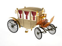 Decorative vintage carriage. In old age Stock Photos