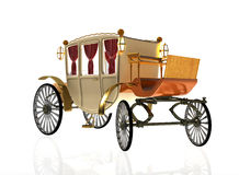 Decorative vintage carriage. In old age Stock Images