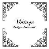 Decorative vintage and classic design element vector illustratio Royalty Free Stock Photo