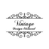 Decorative vintage and classic design element vector illustratio Royalty Free Stock Images