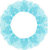 Decorative Vintage Design Element, illustration with lacy frame Royalty Free Stock Images