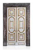 Decorative vintage doors on white background Royalty Free Stock Photos