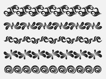 Decorative vintage elements. A decorative vintage elements set Stock Images