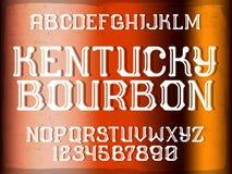 Decorative vintage font Royalty Free Stock Image