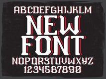 Decorative vintage font Royalty Free Stock Photos