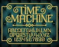 Decorative vintage font Time Machine Stock Image