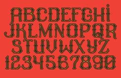 Decorative vintage font Time Machine Royalty Free Stock Photo